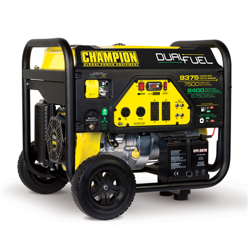 CP100165_CHAMPION 7500W Dual-Fuel Portable Generator with Electric Start