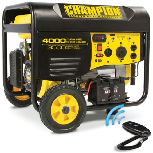 CP46539_CHAMPION 3500W Portable Generator with Wireless Remote Start